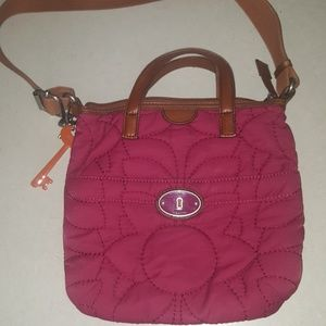 Fossil crossbow bag quilted
